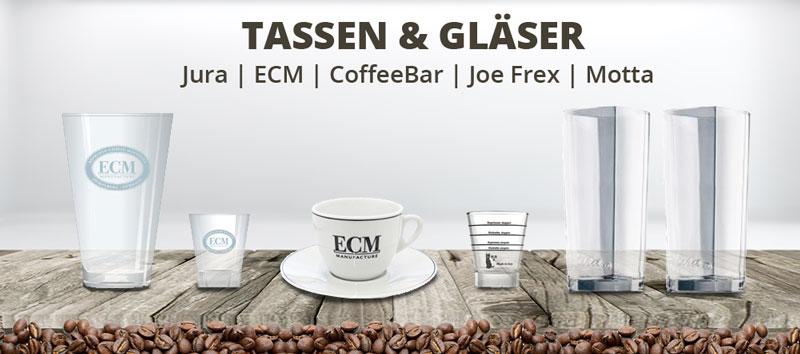 Banner Tassen und Gläser
