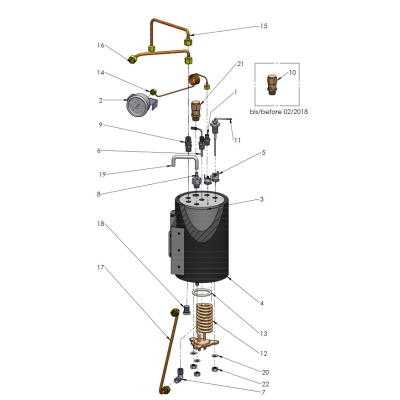 Explosionszeichnung ECM Mechanika V Slim