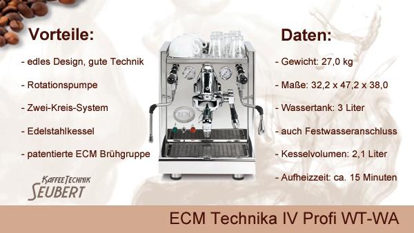 ECM Technika IV Profi WT-WA