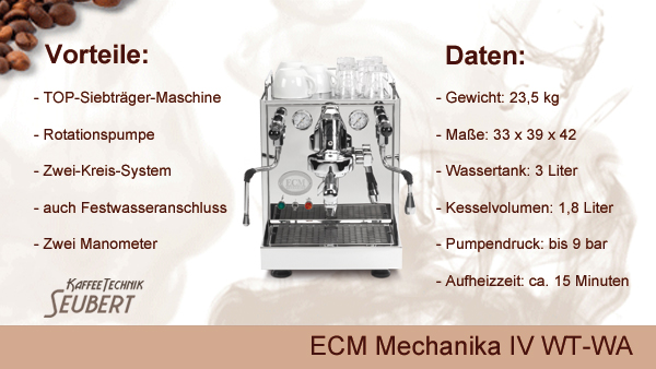 ECM Mechanika IV Profi WT-WA