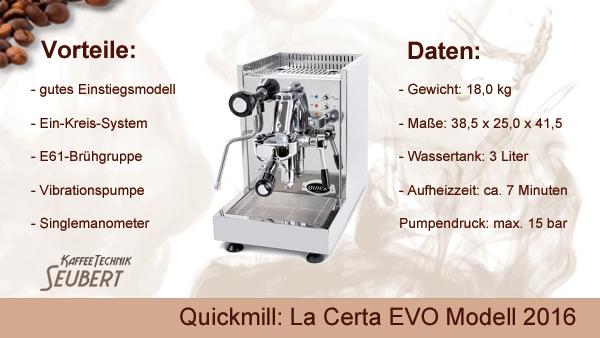 Quickmill: La Certa