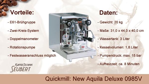Quickmill: New Aquila Deluxe 0985V