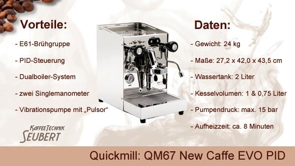 Quickmill: QM67 New Caffe PID