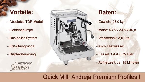 Quickmill Andreja Premium Profiles I