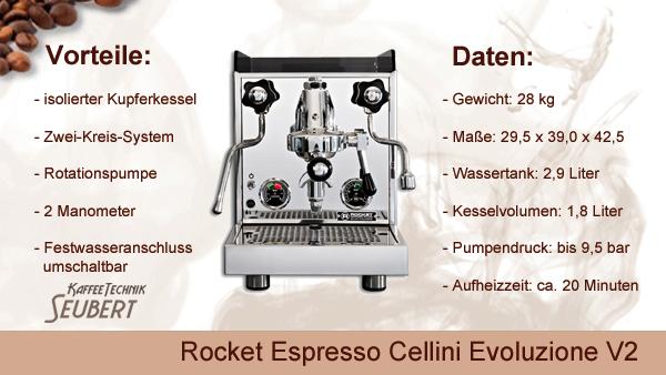 Rocket Espresso: Cellini Evoluzione V2