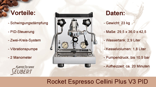 Rocket Espresso Cellini Plus V3 PID