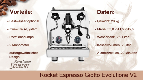 Rocket Espresso Giotto Evolutione V2
