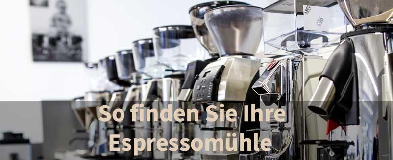 Die richtige Kaffeemühle für meine Espressomaschine