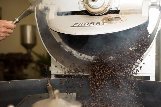 Frisch aus der Rösttrommel - Kaffee