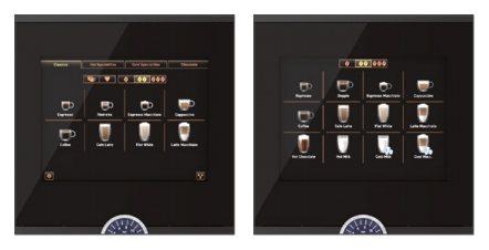 Display für die Schaerer Coffee Soul