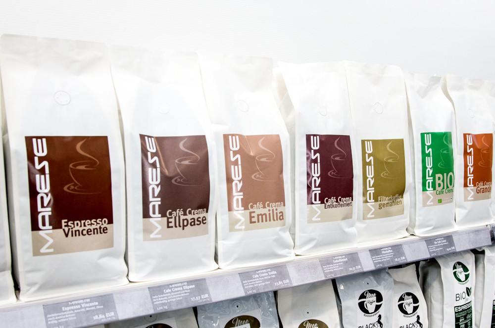 Das vielfältige MARESE Kaffeesortiment