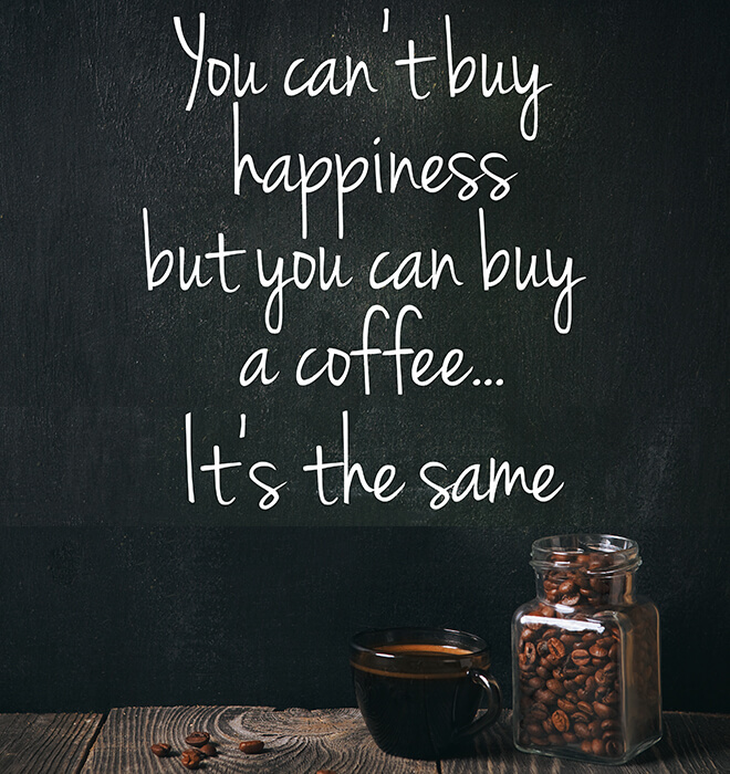 You can buy a coffee
