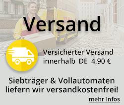 Versandinformationen von Kaffeetechnik Seubert GmbH