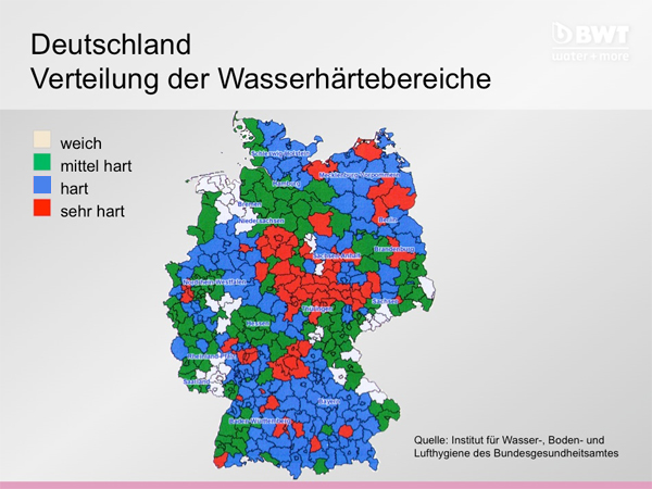 Übersicht Härtegrade in Deutschland